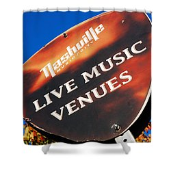 Music Row Nashville Shower Curtain by James Kirkikis