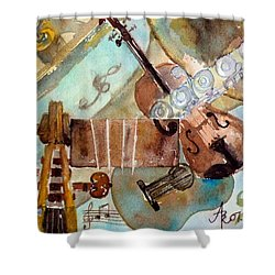 Music Shop Shower Curtain