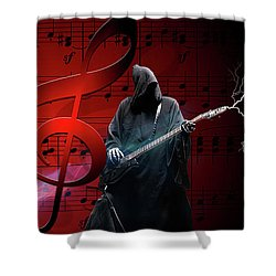 Music To Die For Shower Curtain