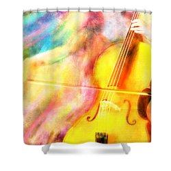 Music To My Eyes Shower Curtain by Jennifer Allison