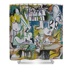 Musical Abstraction  Shower Curtain by Rita Fetisov
