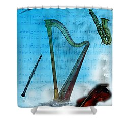 Musical Instruments Shower Curtain