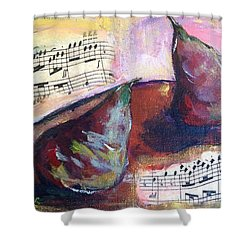 Musical Pears Shower Curtain