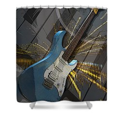 Musical Poster Shower Curtain by Brian Roscorla
