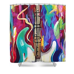 Musical Whimsy  Shower Curtain by Heather Roddy