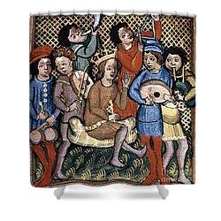 Musicians Shower Curtain by Granger