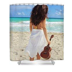 Musicians Paradise Shower Curtain by Tomas Del Amo - Printscapes