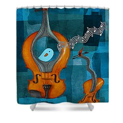 Musiko Shower Curtain by Aimelle