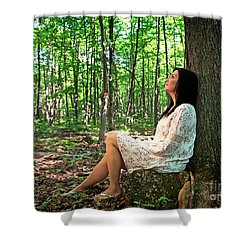 Shower Curtain featuring the photograph Musing.. by Nina Stavlund