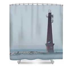 Muskegon South Pierhead Shower Curtain