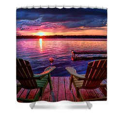 Muskoka Chair Sunset Shower Curtain