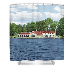 Shower Curtain featuring the painting Muskoka Lakes Golf And Country Club by Kenneth M Kirsch