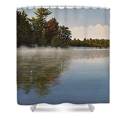 Muskoka Morning Mist Shower Curtain by Kenneth M  Kirsch