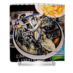 Mussels At France Shower Curtain