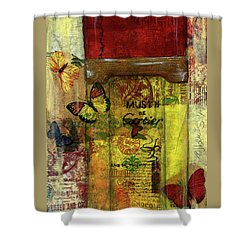 Shower Curtain featuring the painting Must De Cartier by P J Lewis