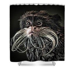 Mustache Monkey IIi Altered Shower Curtain