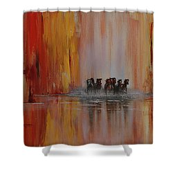 Mustang Canyon Shower Curtain by Karen Kennedy Chatham