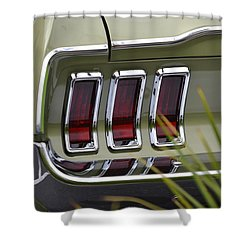 Mustang Fastback In Green Shower Curtain by Dean Ferreira
