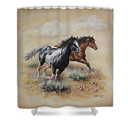 Mustang Glory Shower Curtain