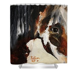 Mustang In My Heart Shower Curtain