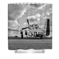 Mustang On The Ramp Shower Curtain