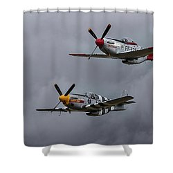 Mustangs Shower Curtain by Elvira Butler