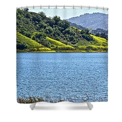 Mustard Patches Shower Curtain