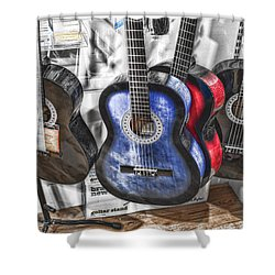 Muted Guitars Shower Curtain
