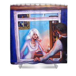Intimate Conversation Shower Curtain