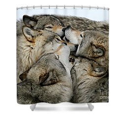Muzzle Nuzzle Shower Curtain