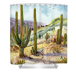 My Adobe Hacienda Shower Curtain