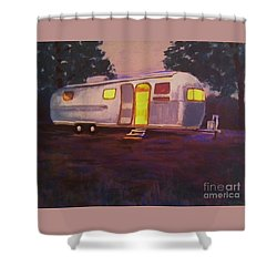 My Airstream Dream II Shower Curtain by Suzanne McKay