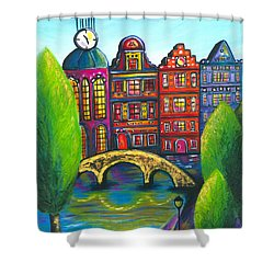 My Amsterdam Shower Curtain by Beryllium Canvas