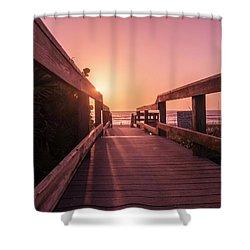 My Atlantic Dream -the Boardwalk  Shower Curtain