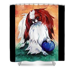 My Ball Shower Curtain by Kathleen Sepulveda