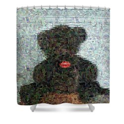 Shower Curtain featuring the digital art My Bear by Lucia Sirna