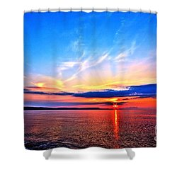Shower Curtain featuring the photograph My Blue Heaven by Baggieoldboy