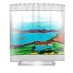 My Blue Heaven Number Three Shower Curtain by Scott Haley