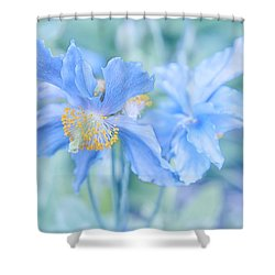 My Blue Heaven Shower Curtain by Theresa Tahara