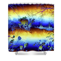 Shower Curtain featuring the painting My Blue Heaven by Valerie Anne Kelly