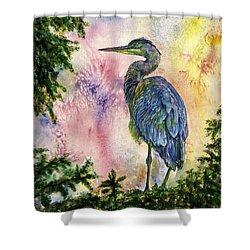 My Blue Heron Shower Curtain