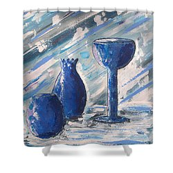 My Blue Vases Shower Curtain