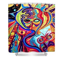 My Brain Shower Curtain by Marina Petro