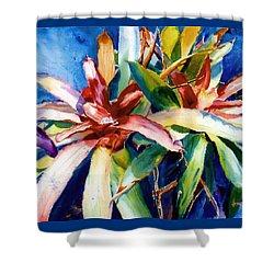 My Bromelias Shower Curtain by Estela Robles