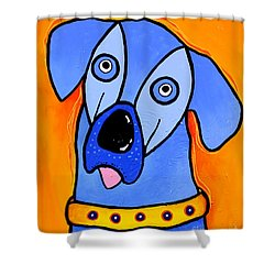 My Brother Is Blue Too Shower Curtain by Tim Ross