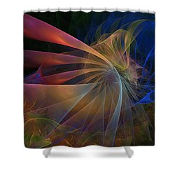 Shower Curtain featuring the digital art My Brothers Voice by NirvanaBlues