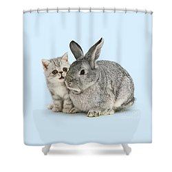 My Bunny Little Friend Shower Curtain