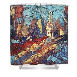 My City Shower Curtain by NatikArt Creations