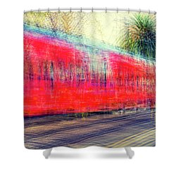 My City's Got A Trolley Shower Curtain by Joseph S Giacalone