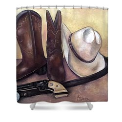 My Cowboy's Home Shower Curtain